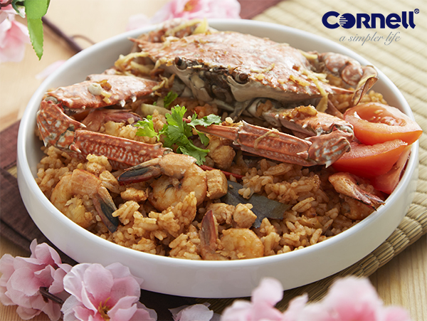Tomato Rice with Steamed Crab Recipe 海鲜番茄饭食谱