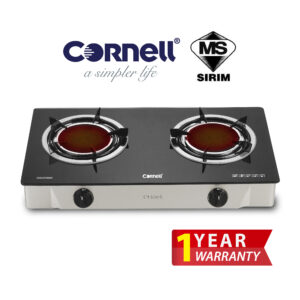 CGS-G155GIR Infrared Glass Stove Double Burner