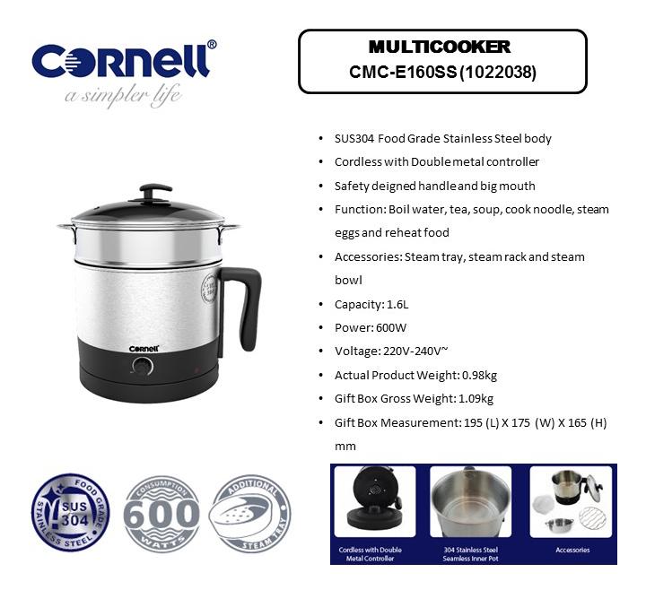 Cornell 1.6 Litre Multi cooker CMC-E160SS