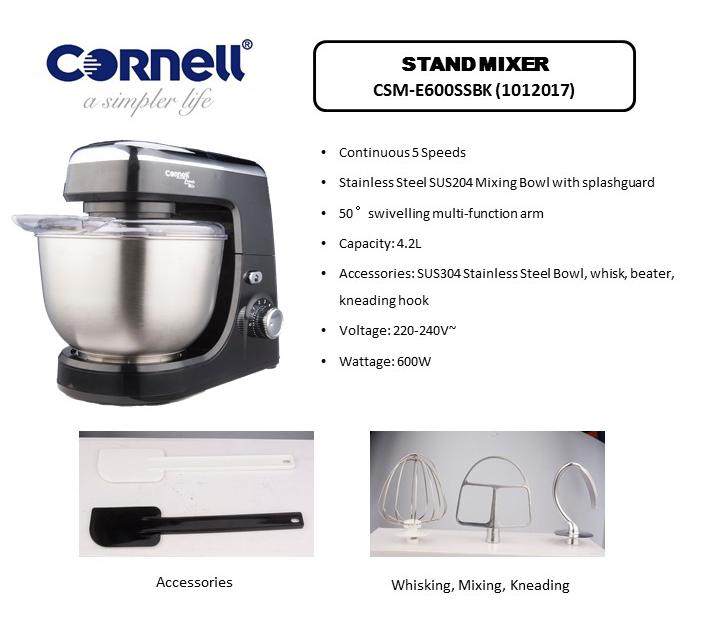 Cornell Stand Mixer CSM-E600SSBK