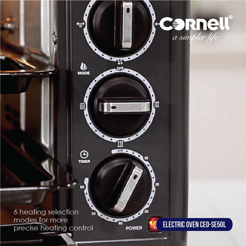 Electric Oven 50L with 6 heating selection