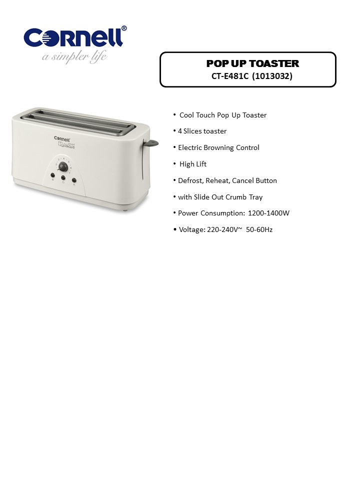 Cornell Cool Touch Toaster (4 Slices)