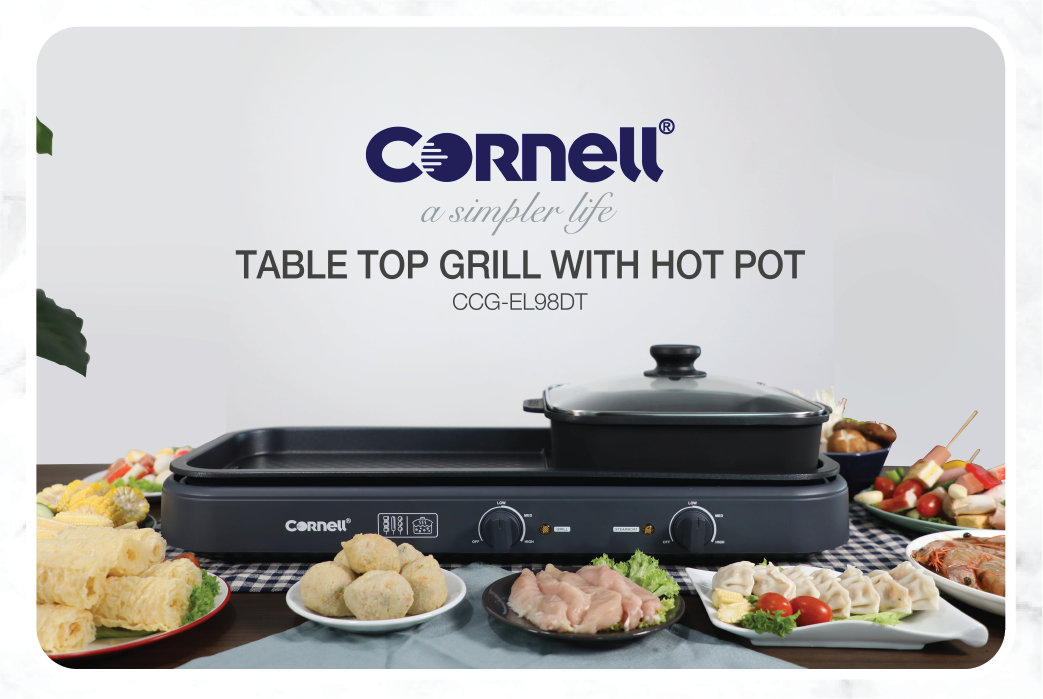 Cornell Table Top Grill with Hot Pot CCG-EL98DT pic2