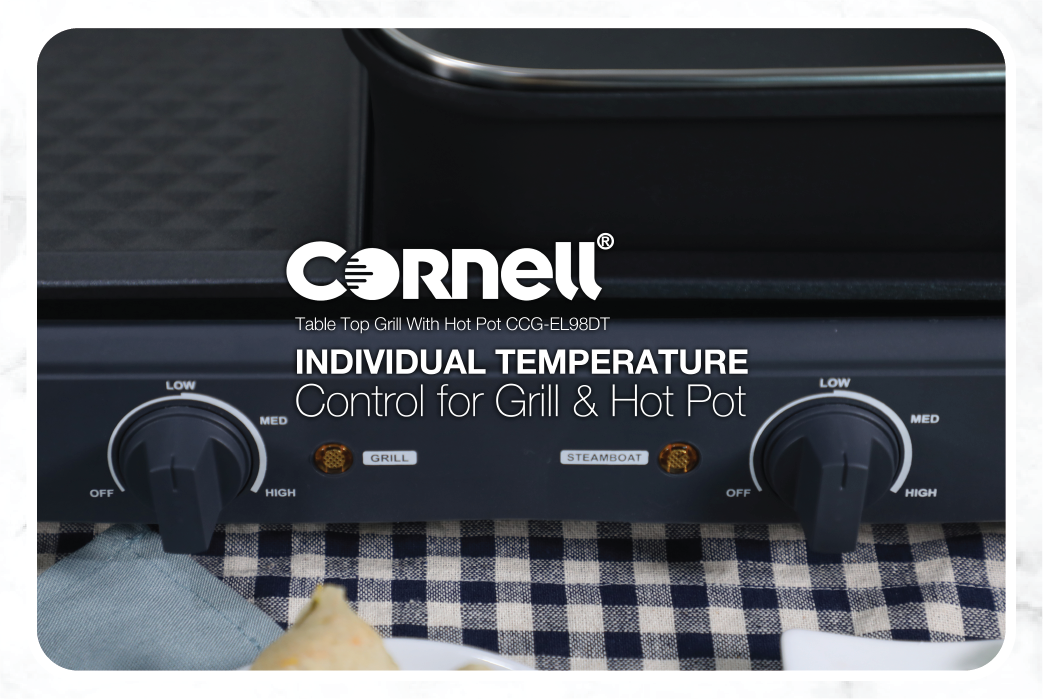 Cornell Table Top Grill with Hot Pot CCG-EL98DT pic 3