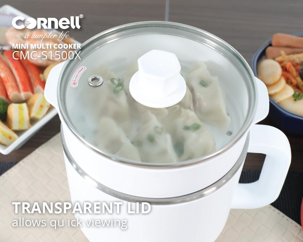 Mini Multi Cooker CMC-S1500X transparent lid
