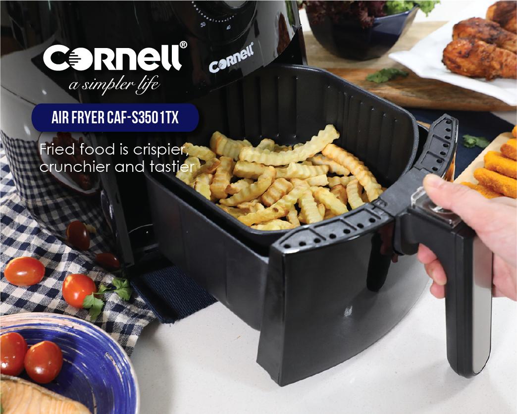 fried food is crispier, crunchier and tastier